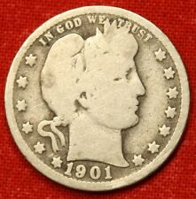 1901-P BARBER QUARTER G 90% SILVER COLLECTOR COIN GIFT BQ200
