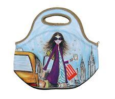 NEW Spencil New York Girls Neoprene School Lunch Bag with zip & handles
