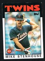 Mike Stenhouse #17 signed autograph auto 1986 Topps Baseball Trading Card