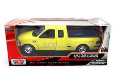 MotorMax 2001 Ford F-150 XLT Flareside Supercab Yellow 1/24 Diecast Car 73284