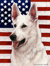 Large Indoor/Outdoor Patriotic II Flag - White German Shepherd 32195