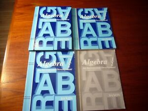4 Saxon Algebra 1/2 Textbook Solutions manual Homeschool Packet Test Forms 3RD