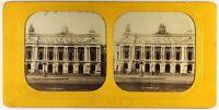 Francia Parigi Opera Garnier Foto c1870 Gaudin Diorama Stereo Vintage Albumina