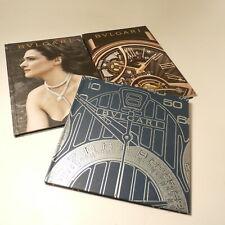 Lot of 3 Nice Bulgari Watch Jewelry Catalog Bvlgari Catalogs Books Hard Cover