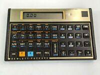 Vintage HP 12C Financial Calculator Hewlett Packard With Case, Fresh Batteries