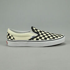 203ef9bfee0 Vans Classic Slip-On Checkerboard Black Trainers Shoes UK 4