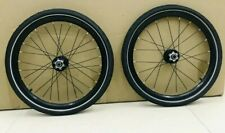 20-inch disc brake folding bicycle wheel set front 74*10mm rear 130*10mm