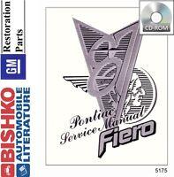 1987 Pontiac Fiero Shop Service Repair Manual CD Engine Drivetrain Electrical OE