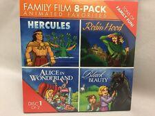 Family Film Animated 8 Pack Movie DVD Sealed Black Beauty Snow White Robin Hood