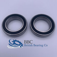 PAIR OF 6803RS (61803-2RS) THIN SECTION QUALITY BEARINGS 17x26x5mm