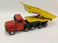 Vintage RARE 18 Wheeler Japan Western Dump Truck Tin Friction Toy M-501