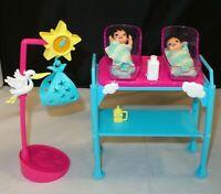 Mattel Barbie I can be a New Born Baby Doctor Twin Babies, Cradles, Accessories