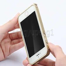 Aluminum Metal Ultra Thin Frame Bumper Cover Case For iPhone 5 5S Champagne Gold