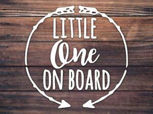 Baby On Board Car Window Decal - Little One On Board Decal - Boho Baby Arrow