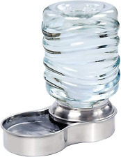 Stainless Steel Pet Dog Cat Water Fountain Bowl Holds 3 Liters NEW