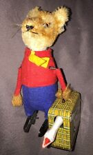 1950 VINTAGE SCHUCO 969 Mr.FOX with GOOSE .......Rare ‼️WIND-UP TOY ⚙🔑🙂