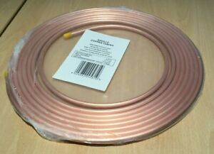 1 SAVILLE 8MM OD x 7.5MTR SOFT SEAMLESS 22G EASY FLARE COPPER FUEL PIPE TUBING