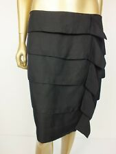 VERONIKA MAINE by CUE BLACK STRAIGHT RUFFLE LAYER SKIRT SUIT FORMAL 12