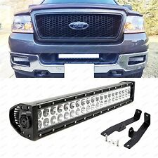 "20"" 120W High Power LED Light Bar w/ Mount Brackets, Relay for 2006-08 Ford F150"