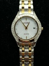 Citizen J015-S099731 Women's Watch Stainless Steel Silver Gold 27mm Round E19