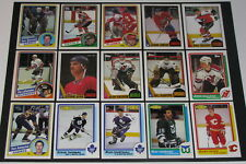1980's Topps OPC O-Pee-Chee RC Rookie Hockey Lot 15 Different NM/MT - See Promo