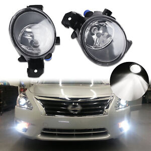Set H11 Fog Lights Lamps Replacement w/ Halogen Bulbs for Nissan Maxima Sentra
