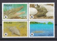 Palau-Inseln 1994 postfrisch MiNr. 690-693 WWF Leistenkrokodil