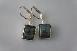 Labradorite Fine Sterling Silver Earring 10 x 8 MM Silver Earrings Gemstone