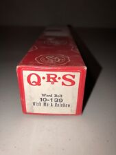 QRS Player Piano Word Roll 10-139 Wish Me A Rainbow