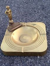 Vintage Brussels Art Deco Bronze Ashtray Of Famous Manneken-Pis Statue