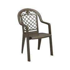 Grosfillex Us103137 Savannah Bronze Mist Stacking Armchair (20 per case)