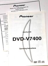 NEW MANUAL for Pioneer DVD V7400 Operating Instructions Industrial Video Player