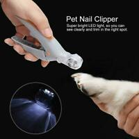 Pet Nail Clippers 5X Magnification Cat Dog Illuminated Grinder with LED Light