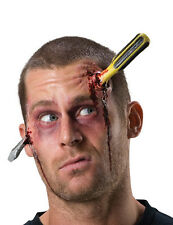 Screwdriver Through Head Fake Wound Scar Bloody Skull Injury Screw Driver Handle