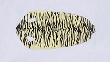 Genuine Stingray skin: Black/White tiger print (Grade 1)