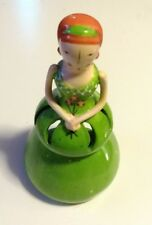Candle Insence Lady Display Holder Burner 7 1/2 inch tall