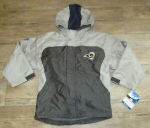 Authentic St. Louis Rams Reebok Fleece Lined On-Field Jacket Size Youth Small