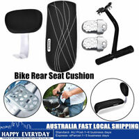 Bike Bicycle Rear Seat Cushion Rack Armrest Footrest Set Back Seat Child Safety