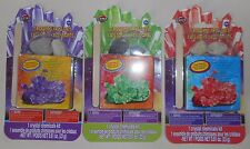 Magic Rocks Crystal Growing Kit Science Experiment Lot/Set of 3 Purple Green Red