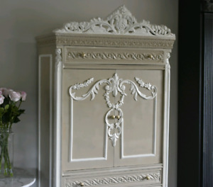 Original 1940s French Armoire Partially Restored