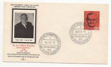 1961 GERMANY First Day Cover H BÖCKLER 10th ANNIVERSARY SGB192
