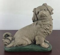 Vintage Hairy Dog Sculpture
