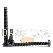 M5 x 50mm - Qty 10 - Phillips Pan Head Machine Screws - DIN 7985 A - Black Steel