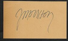 Jim Morrison Autograph Reprint On Old 3x5 Card The Doors