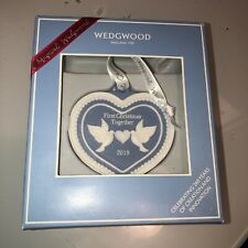 Wedgwood First Christmas Together 2019 Ornament Nib New in Box
