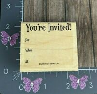 Stampin' Up! You're Invited! Rubber Stamp 2007 Party Shower Wedding #S137