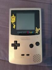Game Boy Color Pokemon Pikachu Gold/Silver Limited Edition System Cgb-001 Tested