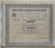 ACTION, BON AU PORTEUR, SOCIÉTÉ DES MAGASINS GÉNÉRAUX FRANÇAIS, 1935