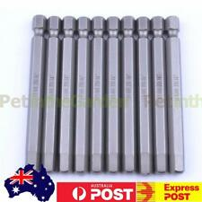10pcs 75mm Length 6mm Tip Hex Hexagon Head Magnetic Screwdriver Bits