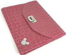 "Disney Parks Mickey Mouse iPad Case 10"" Tablet Pink Faux Alligator Skin"